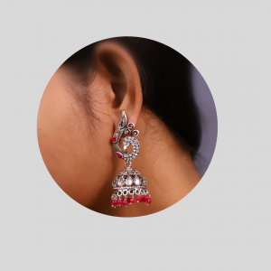 Jhumki in Red Color