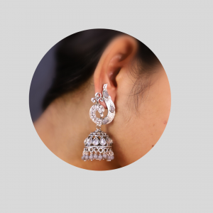 Jhumki in Gray Color